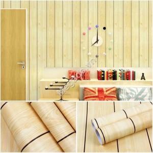 10m Giấy dán tường giả gỗ mầu vàng C0060