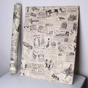 Giấy dán tường giấy báo C0061