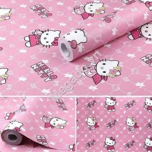 Giấy dán tường hello kitty hồng C0079