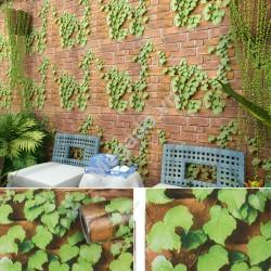 Giấy dán tường hoa dây leo xanh C0084