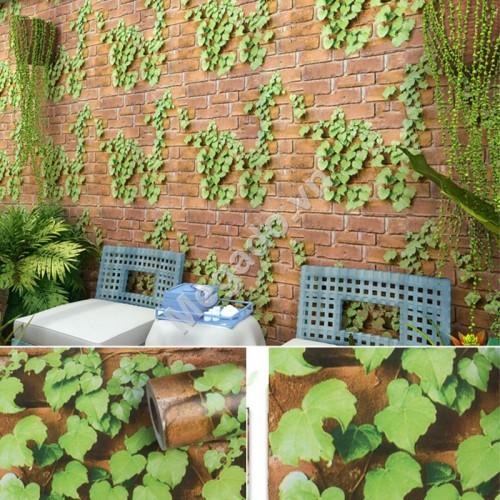 10m Giấy dán tường hoa dây leo xanh C0084