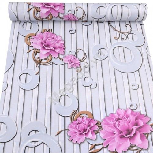 10m Giấy dán tường hoa tím C0085