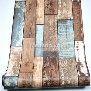 10m Giấy dán tường giả gỗ C0090