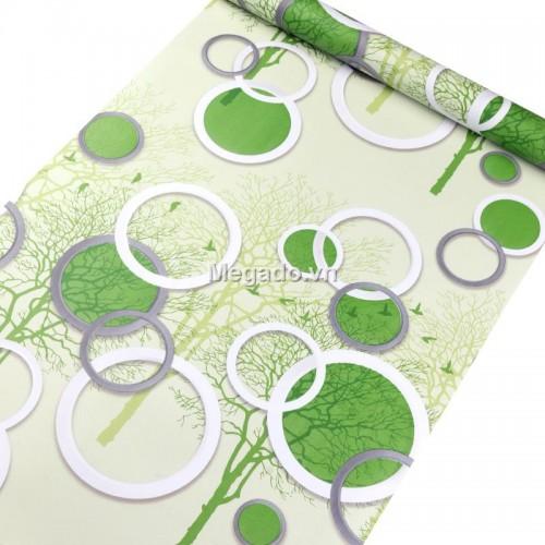 10m giấy dán tường vòng tròn xanh C0102