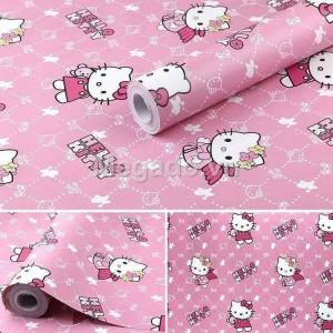 Giấy dán tường hello kitty hồng E0002