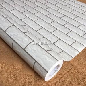 Khổ 60 giấy dán tường giả gạch trắng G0013