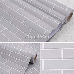 Giấy dán tường giả gạch trắng M0006