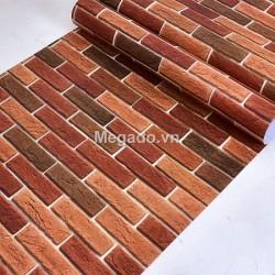 Giấy dán tường giả gạch đỏ M0008