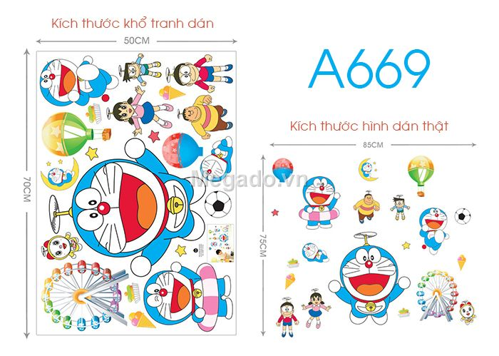 Decal Doremon A669
